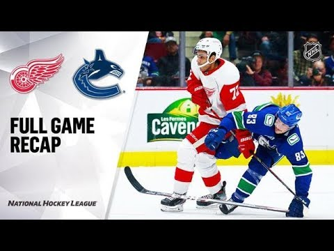Обзор #НХЛ Detroit Red Wings vs Vancouver Canucks Oct 15, 2019 HIGHLIGHTS HD #хоккей