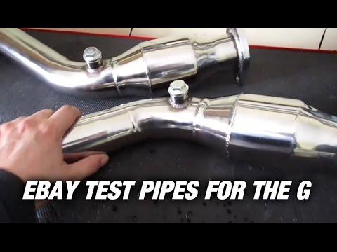 Resonated Ebay Test Pipes For The G35 - G35 Vlog