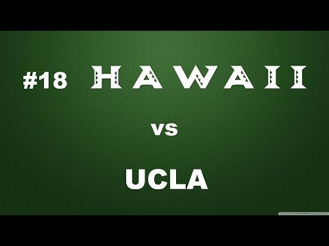 #18 Rainbow Wahine Vs UCLA
