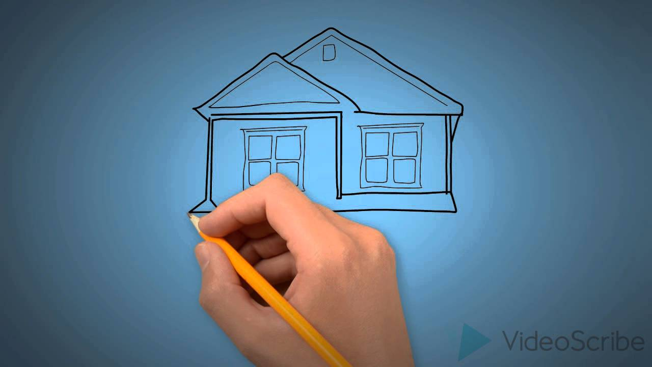 Easy drawing for kids drawing a house step by step youtube