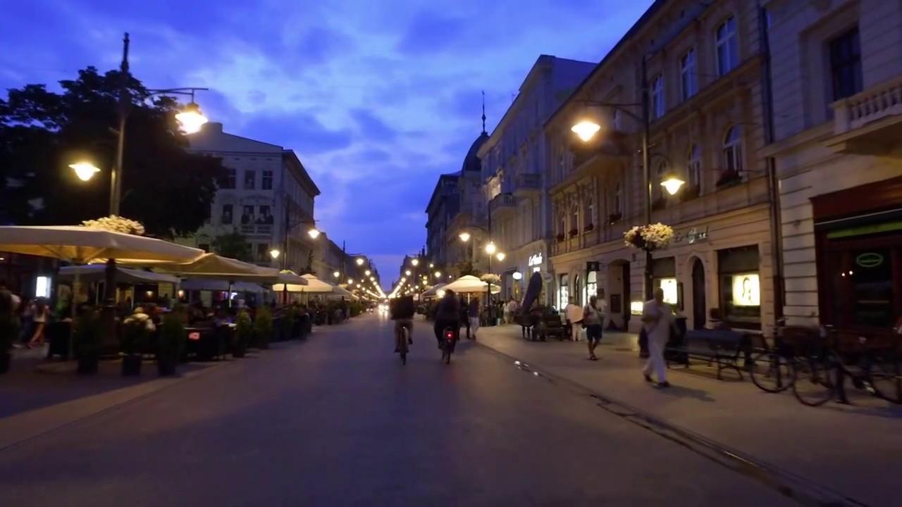 Piotrkowska poleca się na wieczory