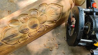 Router machine balancing skills   wood carving with pvj wood carving tools