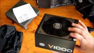 Cooler Master V1000 V Series 1000W Gold power supply unboxing and overview