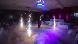 WEDDING INDOOR FIREWORKS & LIGHTING
