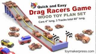 Wood Toy Plans - Drag Race Car Game