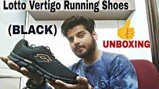 Lotto Men's Vertigo Running Shoes (BLACK) from AMAZON