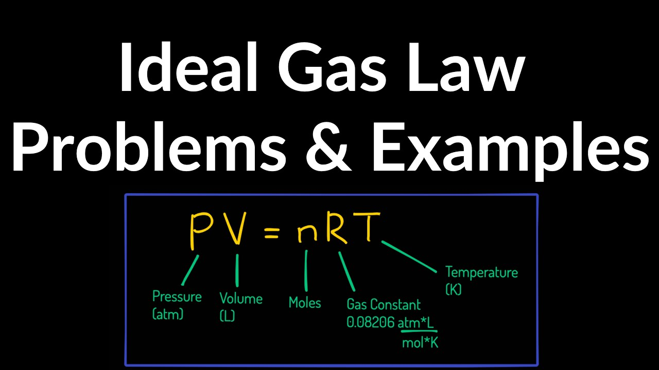 Ideal Gas Law Practice Problems & Examples - YouTube