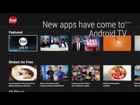 Food Network, Travel Channel, HGTV Come to Android TV