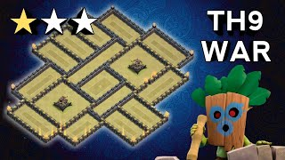 TH9 SUPER STRONG TH9 WAR BASE! ANTi-3 STAR TH9 WAR BASE LAYOUT + REPLAY PROOF! Clash Of Clans