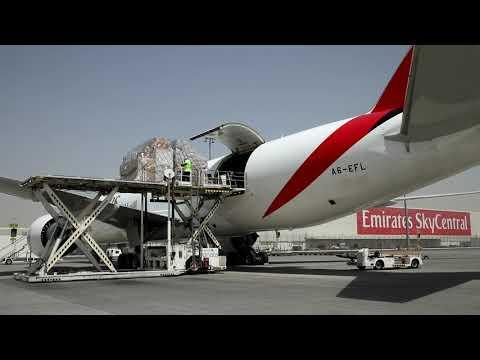Emirates SkyCargo flies food and medicines around the world