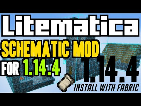LITEMATICA MOD 1 14 4 minecraft - how to download & install [Schematica  alike mod] (with Fabric)