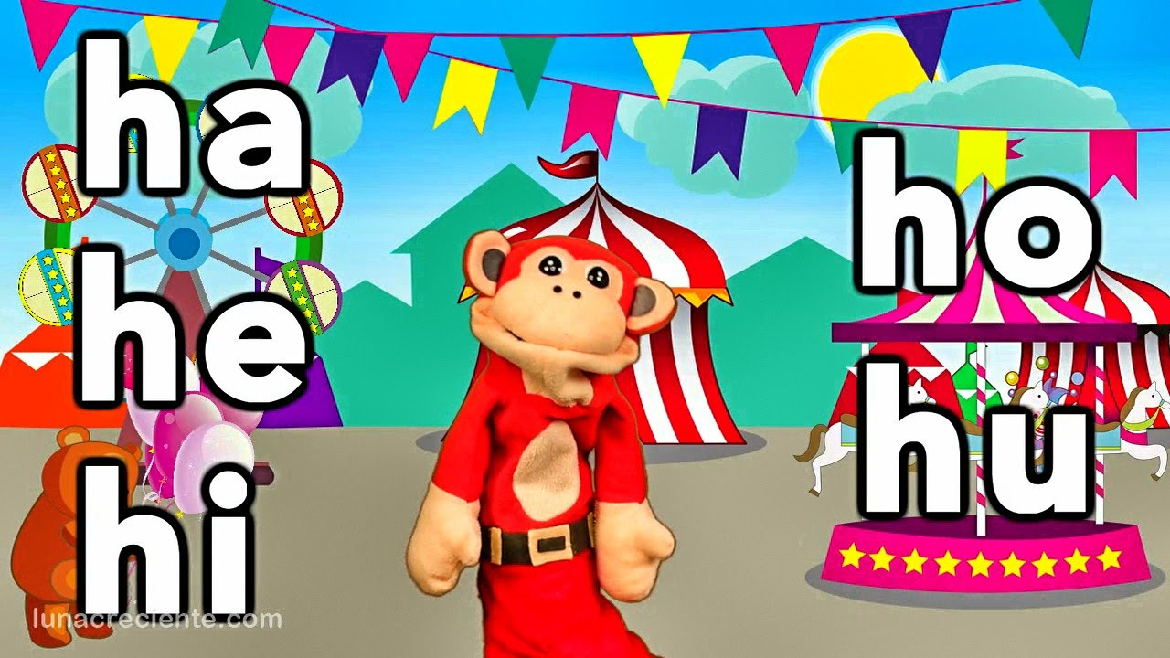 Sílabas ha he hi ho hu - El Mono Sílabo - Videos Infantiles - Educación para Niños #