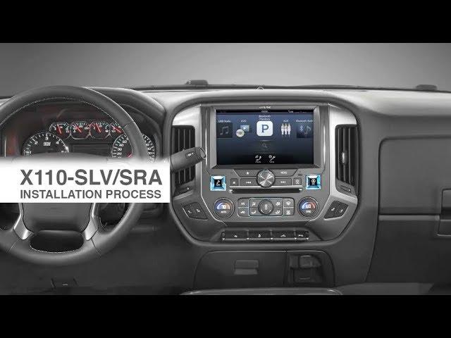 Alpine | 10-inch | X110-SRA & X110-SLV Restyle Installation Process | 2014-17 GM Trucks