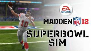 Repeat youtube video Madden NFL 12 - Super Bowl XLVI Sim - Patriots vs Giants
