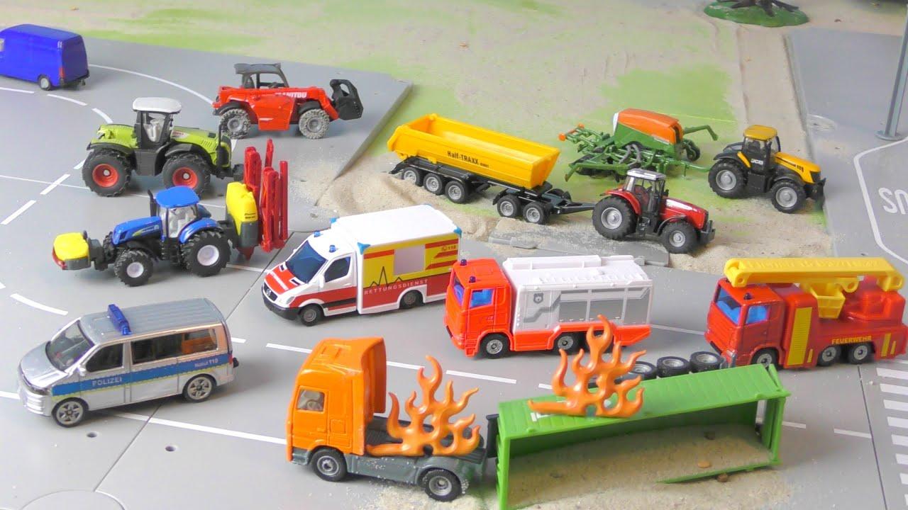 Download Trecker, Güllewagen & Traktor - Unfall auf dem Bauernhof - Bauernhof Fahrzeuge - Farm Vehicles
