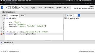 5. Javascript ja prompt