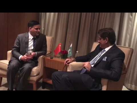 Sindh CM SYED MURAD ALI SHAH an interview to CHINA Radio at biejing Hotel... (28 Dec 2016)