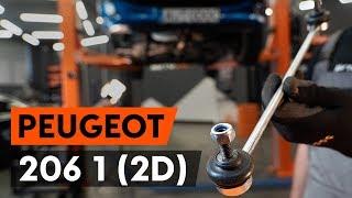 Hvordan og hvornår skifte Stabilisatorarm bag og foran PEUGEOT 206 CC (2D): videovejledning