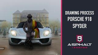 DRAWING PROCESS - PORSCHE 918 SPYDER | ASPHALT 9