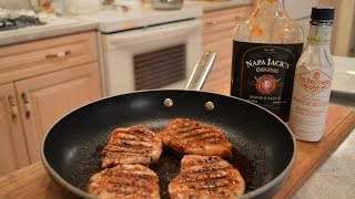 How To Grill Napa Jack's Orange Bbq Pork Loin Center Chops: Cooking With Kimberly