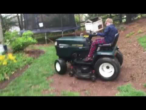 Craftsman Garden Tractor 225 HP Kohler Command Best Demo Ever
