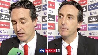 Unai Emery reacts to his Arsenal side being booed off after draw with Southampton | Post Match