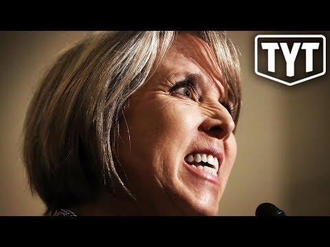 New Mexico Governor DOG WALKS Trump