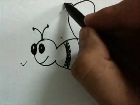 how to draw cartoon honey bee youtube