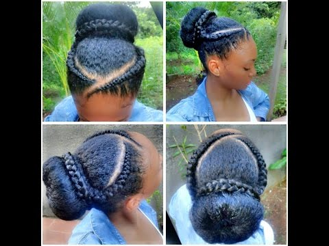 Extrem Cornrows Art / How to style your Crochet Braids - With Loop  MV22