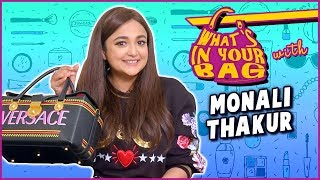 Monali Thakur Handbag Secret Revealed | What's In Your Bag | TellyMasala