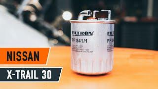 Wie NISSAN X-TRAIL T30 Kraftstofffilter wechseln TUTORIAL | AUTODOC