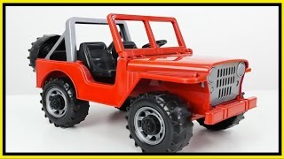 Toy Cars - NAUGHTY JEEP Crash Demo! - Traffic Rules Tow Truck Rescue!