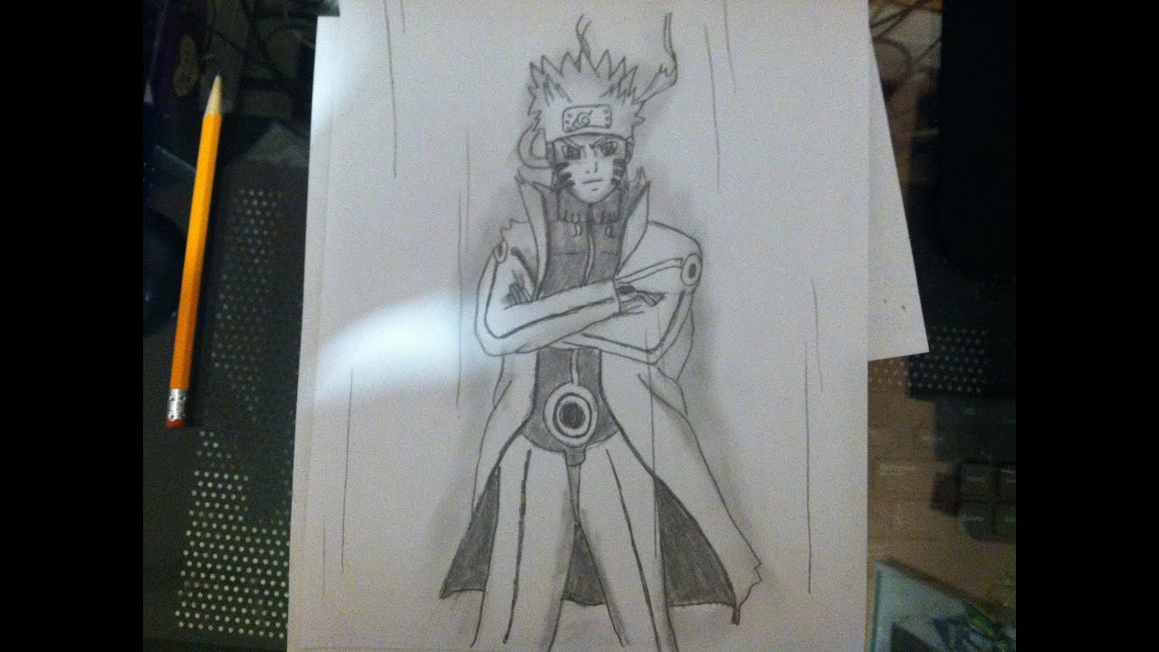 Naruto Uzumaki Shippuden Bijuu Mode Drawing