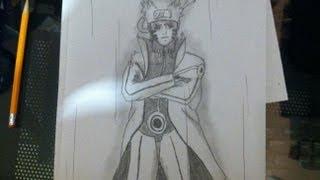 How to Draw Naruto Uzumaki/ Uzumaki Naruto Bijuu Mode- Naruto Shippuden- うずまきナルト