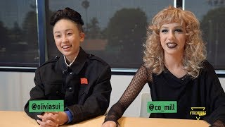 EXCLUSIVE INTERVIEW WITH OLIVIA SUI AND COURTNEY MILLER FROM SMOSH // Only On Trending All Day