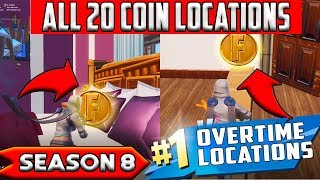 Collect Coins in Featured Creative Islands - ALL 20 LOCATIONS OVERTIME CHALLENGES FORTNITE