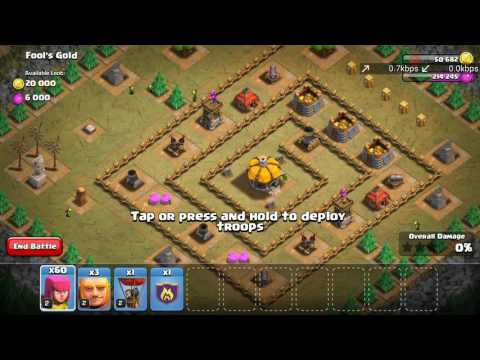 Fool's gold in clash of clans ( coc) walkthrough