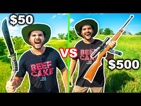 Walmart CHEAP vs EXPENSIVE SURVIVAL Budget CHALLENGE!!! (No Food. No Water)