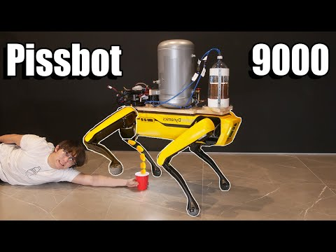 Teaching a Robot Dog to Pee Beer - Michael Reeves