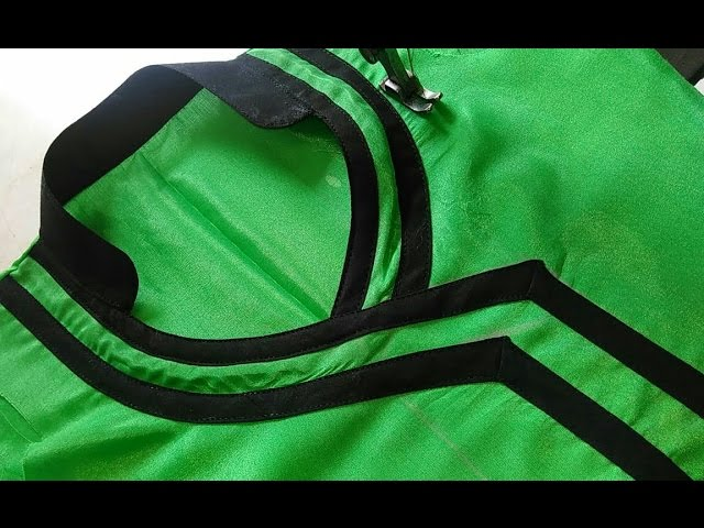 Angrakha Patti Suit Neck Design Collar Cutting And Stitching In Hindi Youtube