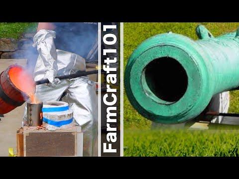 Casting a Historic Bronze Cannon Barrel, Scaled Down Replica. FarmCraft101