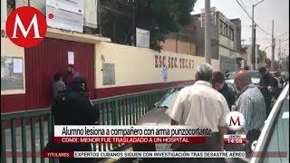 Estudiante agrede con arma punzocortante a alumno en Venustiano Carranza
