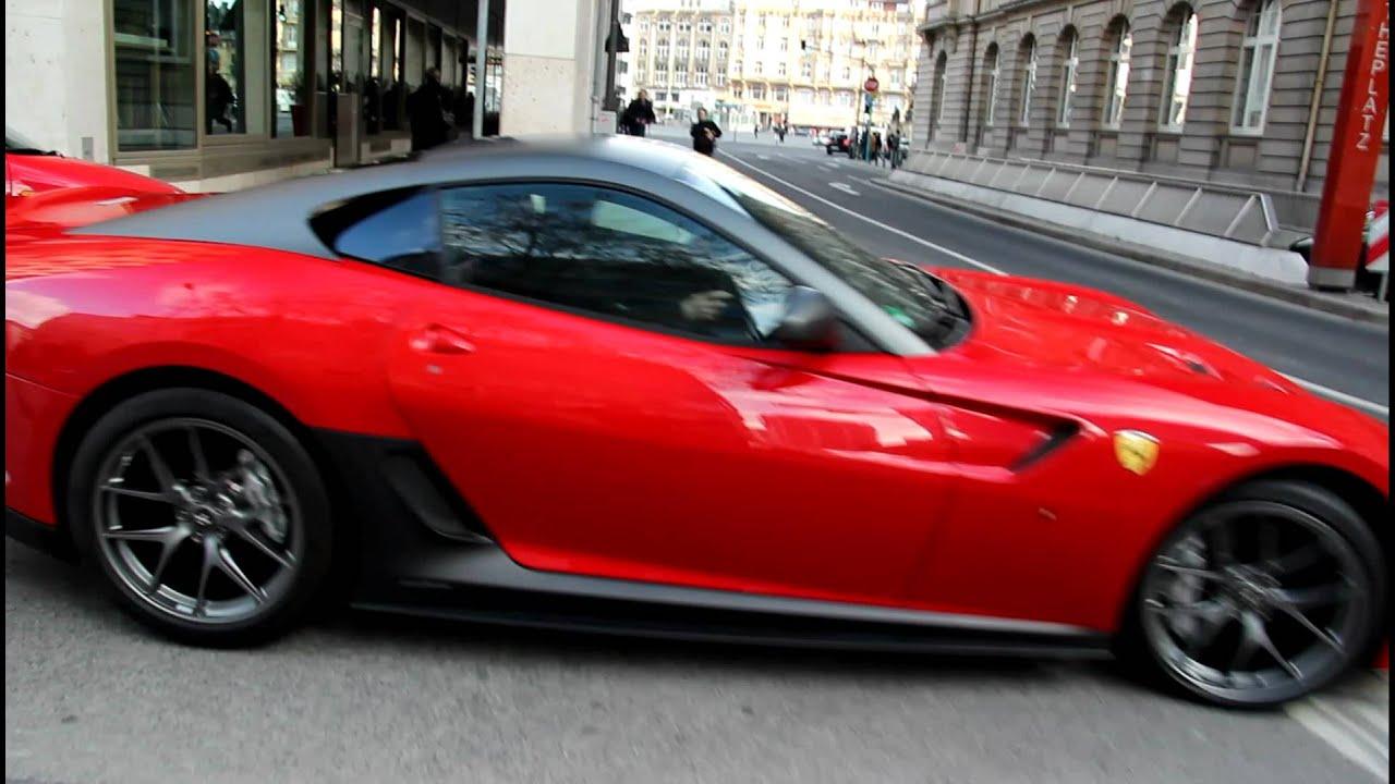 Red Rosso Corsa Ferrari 599 GTO In Frankfurt Sound YouTube