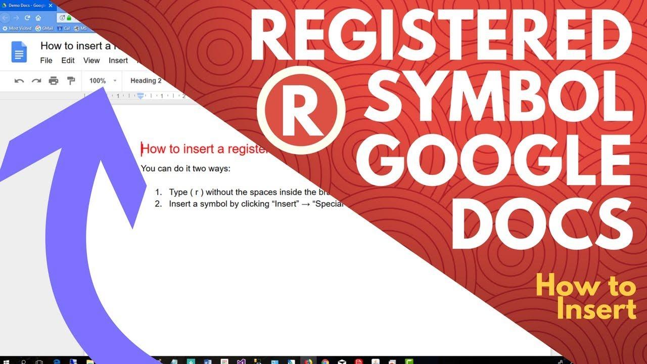 Google Docs Registered Symbol How To Insert Youtube