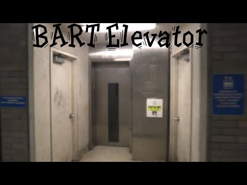 Interesting Traction elevator @ Civic Center BART Station San Francisco CA