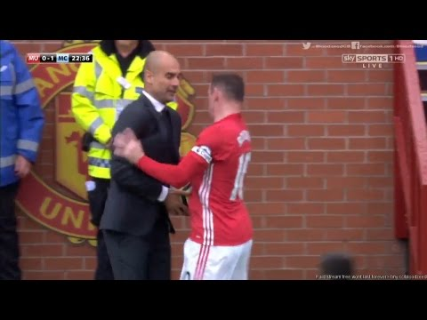 Man United vs Man City  1-2 Highlights 10-09-2016 | Rooney Push Pep