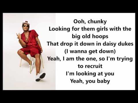 Bruno Mars - Chunky Lyrics / Letras