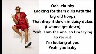 Bruno Mars - Chunky Lyrics / Letras