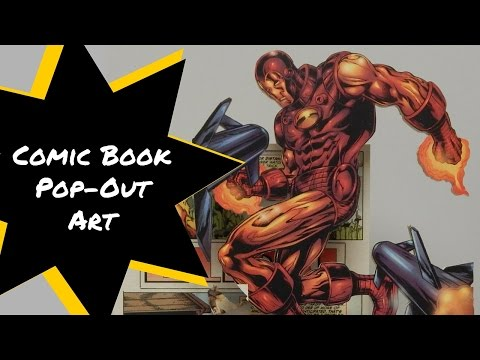 Comic Book Pop-Out Art