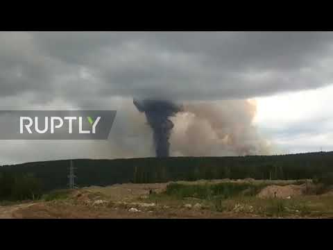 Russia: MASSIVE Explosions At Siberian Ammunition Depot Caught On Camera